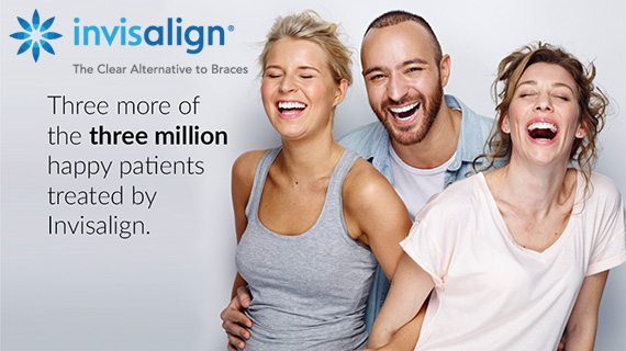 Three more of the three million happy patients treated by invisalign